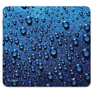 ESASP30182 - Naturesmart Mouse Pad, Raindrops Design, 8 1-2 X 8 X 1-10