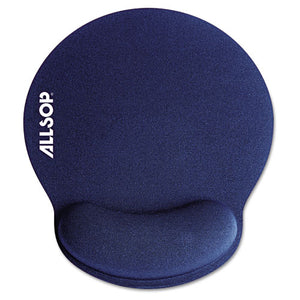 ESASP30206 - Mousepad Pro Memory Foam Mouse Pad With Wrist Rest, 9 X 10 X 1, Blue