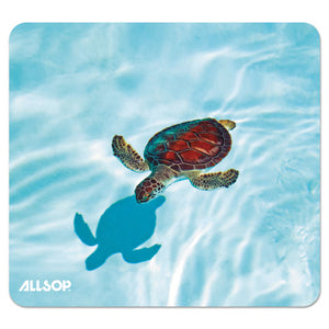 ESASP31425 - Naturesmart Mouse Pad, Turtle Design, 8 1-2 X 8 X 1-10