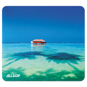 ESASP31625 - NATURESMART MOUSE PAD, TROPICAL MALDIVES, 8 1-2 X 8 X 1-10