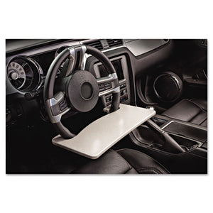 ESAUE13000 - Automobile Steering Wheel Attachable Work Surface, Gray