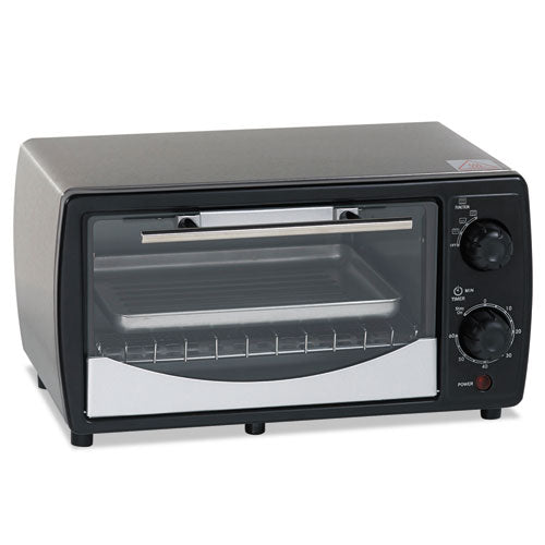 ESAVAPOW31B - Toaster Oven, 0.32 Cu Ft Capacity, Stainless Steel-black, 14 1-2 X 11 1-2 X 8