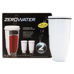 ESAVAZR017 - Zerowater Replacement Filtering Bottle Filter, 2-pack