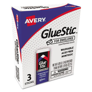 ESAVE00134 - Glue Stic For Envelopes, .26 Oz, Stick, 3-pack
