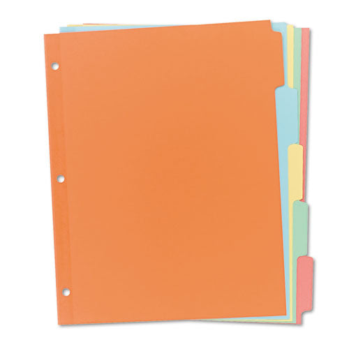 ESAVE11508 - WRITE & ERASE PLAIN-TAB PAPER DIVIDERS, 5-TAB, LETTER, MULTICOLOR, 36 SETS