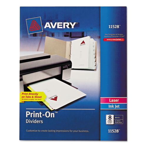 ESAVE11528 - Customizable Print-On Dividers, 8-Tab, Letter