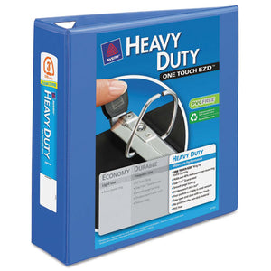 "Heavy-duty View Binder With Durahinge And Locking One Touch Ezd Rings, 3 Rings, 3"" Capacity, 11 X 8.5, Periwinkle"