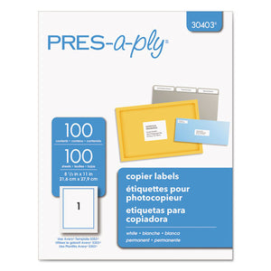 ESAVE30403 - White Copier Full-Sheet Labels, 8 1-2 X 11, 100-box
