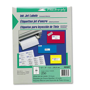 ESAVE30583 - Inkjet Address Labels, 2 X 4, White, 250-pack