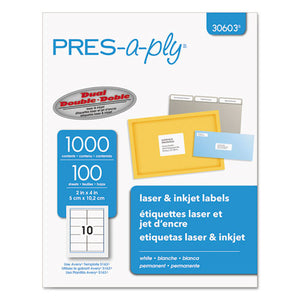 ESAVE30603 - Laser Shipping Labels, 2 X 4, White, 1000-box