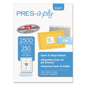 ESAVE30609 - Laser Shipping Labels, 2 X 4, White, 2500-box