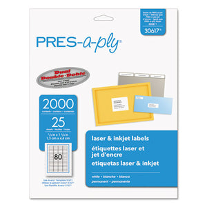 ESAVE30617 - Laser Address Labels, 1-2 X 1 3-4, White, 2000-pack