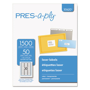 ESAVE30620 - Laser Address Labels, 1 X 2 5-8, Clear, 1500-box