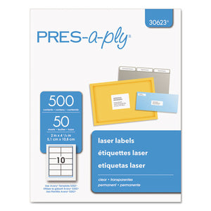 ESAVE30623 - Laser Shipping Labels, 2 X 4 1-4, Clear, 500-box