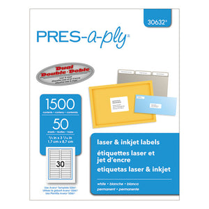 ESAVE30632 - Laser File Folder Labels, 2-3 X 3 7-16, White, 1500-box
