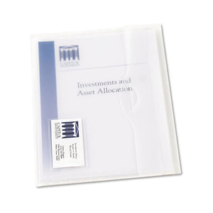 ESAVE72278 - Translucent Document Wallets, Letter, Polypropylene, Translucent, 12-box