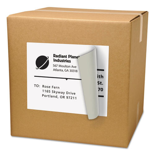 ESAVE91201 - SHIPPING LABELS WITH TRUEBLOCK TECHNOLOGY, LASER, 8 1-2 X 11, WHITE, 500-BOX