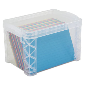 ESAVT40305 - Super Stacker Storage Boxes, Hold 500 4 X 6 Cards, Plastic, Clear