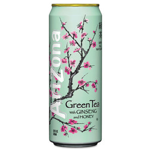 ESAZC827195 - Green Tea With Ginseng & Honey, 23 Oz Can, 24-case