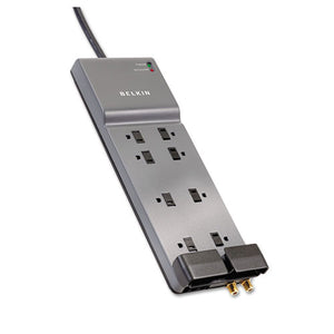 ESBLKBE10823006 - Home-office Surge Protector, 8 Outlets, 6 Ft Cord, 3990 Joules, Gray