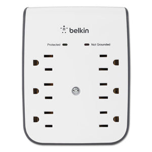 ESBLKBSV602TT - Surgeplus Usb Wall Mount Charger, 6 Outlets; 2 Usb, White