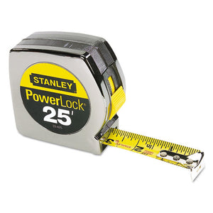 "ESBOS33425 - Powerlock Ii Power Return Rule, 1"" X 25ft, Chrome-yellow"