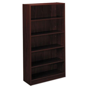 ESBSXBL2194NN - Bl Laminate Series Five Shelf Bookcase, 32w X 13 13-16d X 65 3-8h, Mahogany