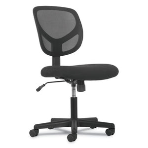 ESBSXVST101 - 1-OH-ONE MID-BACK TASK CHAIR, BLACK MESH BACK-BLACK FABRIC SEAT SEAT