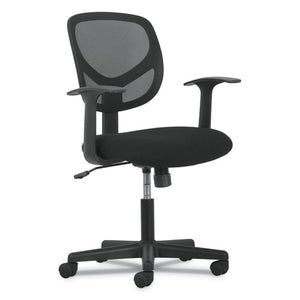 ESBSXVST102 - 1-OH-TWO MID-BACK TASK CHAIR, BLACK MESH BACK-BLACK FABRIC SEAT W-ARMS