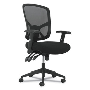 ESBSXVST121 - 1-TWENTY-ONE HIGH-BACK TASK CHAIR, BLACK MESH BACK-BLACK FABRIC SEAT