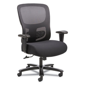 ESBSXVST141 - 1-FOURTY-ONE BIG & TALL MESH TASK CHAIR, BLACK FABRIC SEAT, SUPPORTS 350 LB