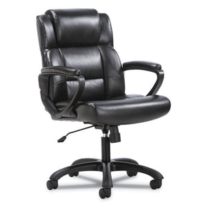 ESBSXVST305 - MID-BACK EXECUTIVE CHAIR, BLACK LEATHER