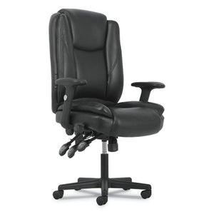 ESBSXVST331 - HIGH-BACK EXECUTIVE CHAIR, BLACK LEATHER