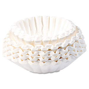 ESBUNBCF250CT - Flat Bottom Coffee Filters, Paper, 12-Cup Size