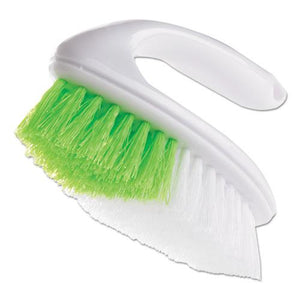 "ESBUT412342 - Iron Handle Brush, 5 3-4"" Brush, 1 1-4"" Bristles, White-green, 4-box"