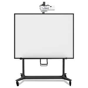 ESBVCBI350420 - Interactive Board Mobile Stand With Projector Arm, 76w X 26d X 86h, Black