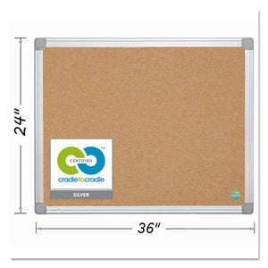 ESBVCCA031790 - Earth Cork Board, 24 X 36, Aluminum Frame