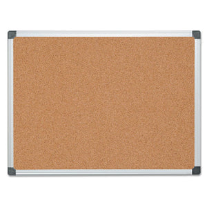 ESBVCCA051170 - Value Cork Bulletin Board With Aluminum Frame, 36 X 48, Natural