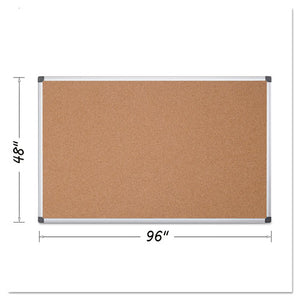 ESBVCCA211170 - Value Cork Bulletin Board With Aluminum Frame, 48 X 96, Natural