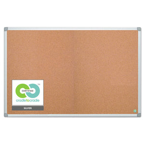 ESBVCCA271790 - Earth Cork Board, 48 X 72, Aluminum Frame
