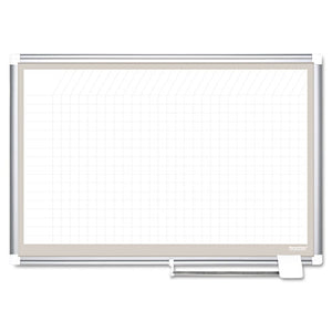 ESBVCCR0632830A - All Purpose Porcelain Dry Erase Planning Board, 1 X 1 Grid, 36 X 24, Aluminum