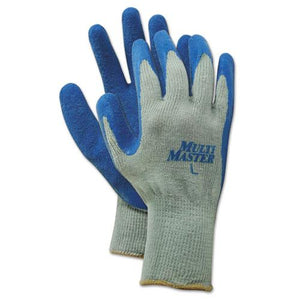 ESBWK00027L - Rubber Palm Gloves, Gray-blue, Large, 1 Dozen