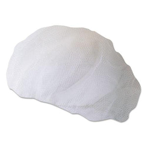 ESBWK00030 - Disposable Hairnets, Nylon, Large, White, 100-pack