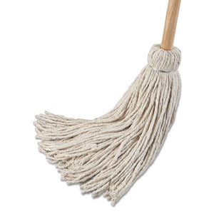 "ESBWK124C - Deck Mop; 54"" Wooden Handle, 24oz Cotton Fiber Head, 6-pack"