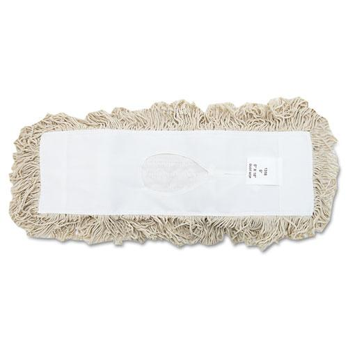 ESBWK1318 - Industrial Dust Mop Head, Hygrade Cotton, 18w X 5d, White