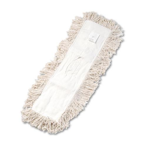 ESBWK1324 - Industrial Dust Mop Head, Hygrade Cotton, 24w X 5d, White