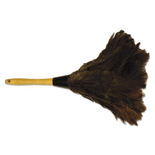 "ESBWK14FD - Professional Ostrich Feather Duster, Gray, 14"", Wood Handle"