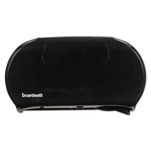 ESBWK1529 - Jumbo Twin Toilet Tissue Dispenser, 20 1-4 X 12 1-4, Black