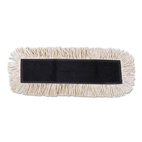 ESBWK1636 - Disposable Dust Mop Head W-sewn Center Fringe, Cotton-synthetic, 36w X 5d, White