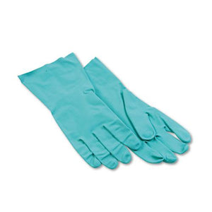 ESBWK183L - Nitrile Flock-Lined Gloves, Large, Green, Dozen